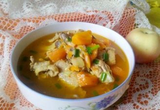 the braised chicken with carrot.