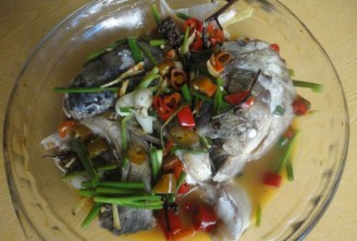 the hot and spicy fish head with red pepper