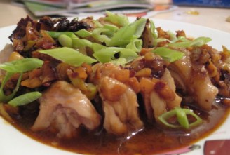 the steamed chicken with chili sauce
