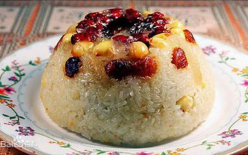 the sweet Chinese rice pudding