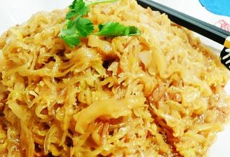 Sauteed Pickled Cabbage and Vermicelli
