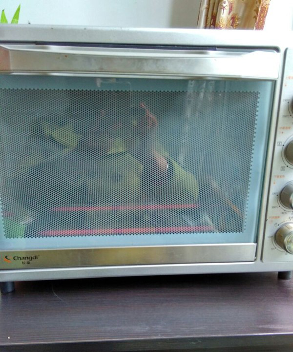 Set the up and down's fire of the oven to 170