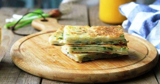 Chinese Egg and Green Onion Pancakes