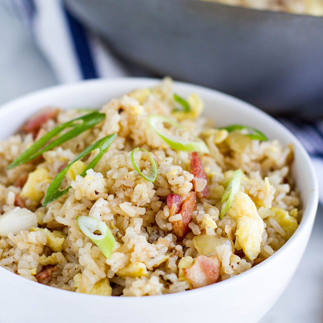 Egg and Bacon Stir Fried Rice